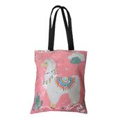 Reversible Sequin Pink Llama Tote Bag