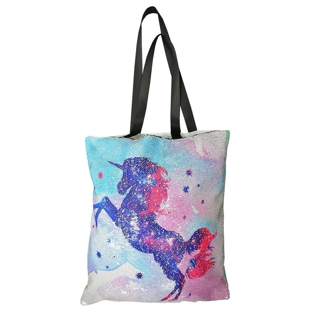 Reversible Sequin Unicorn Tote Bag