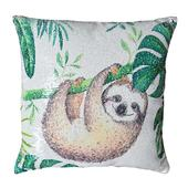 Reversible Sequin Sloth Cushion Square