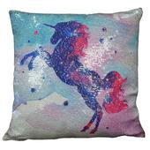Reversible Sequin Unicorn Cushion Square