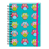 Owl Pattern Yours Truly Ringbound Lined Pocket Notebook