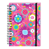 Flower Pattern Yours Truly Ringbound Lined Pocket Notebook