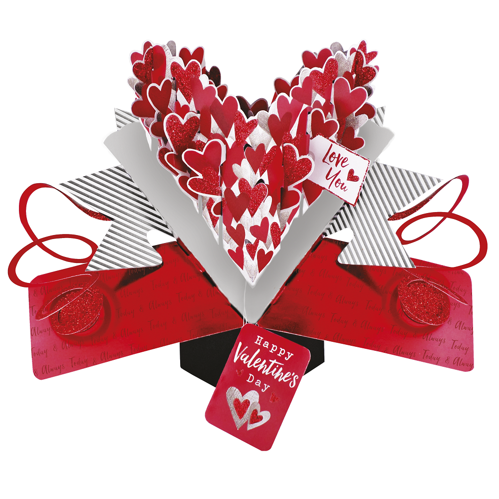 Love You Pop-Up Valentines Greeting Card Valentine/'s Day Pop Up Cards