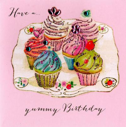 Have A Yummy Birthday Embellished Greeting Card