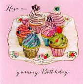 Have A Yummy Birthday Embellished Greeting Card