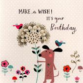 Make A Wish Embellished Birthday Greeting Card