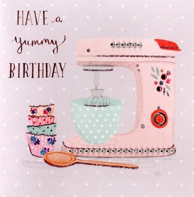 Yummy Baking Embellished Birthday Greeting Card