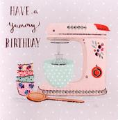 Yummy Baking Embellished Birthday Greeting Card