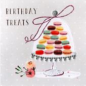 Macaroon Treats  Embellished Birthday Greeting Card