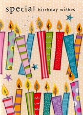 Special Birthday Wishes Embellished Greeting Card