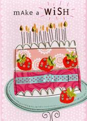 Make A Wish Birthday Embellished Greeting Card