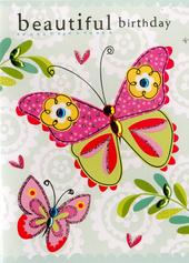 Butterfly Birthday Embellished Greeting Card