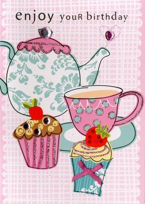 Enjoy Your Birthday Embellished Greeting Card
