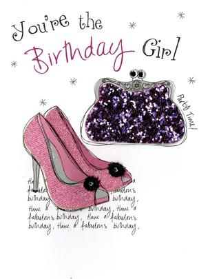 Birthday Girl Embellished Greeting Card
