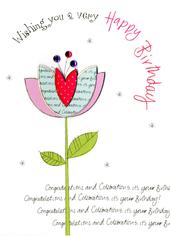 Happy Birthday Embellished Greeting Card