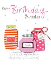 Happy Birthday Sweetie Embellished Greeting Card