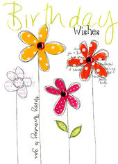 Birthday Wishes Embellished Greeting Card