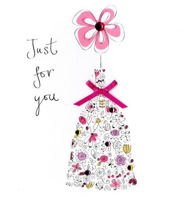 Just For You Embellished Embellished Greeting Card