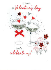 A Toast To Us Irresistible Valentine's Greeting Card
