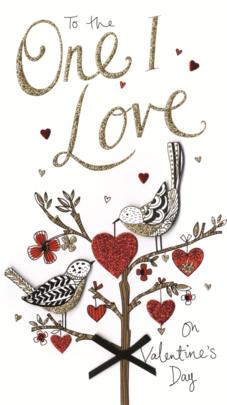 One I Love Embellished Valentine's Card