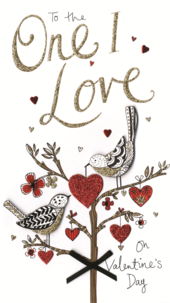 One I Love Embellished Valentine's Card