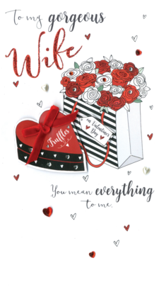Gorgeous Wife Embellished Valentine's Card