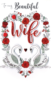 Beautiful Wife Embellished Valentine's Card