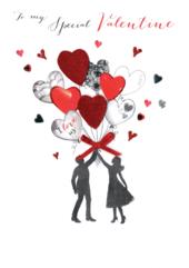 Special Valentine Embellished Joie De Vivre Valentine's Greeting Card