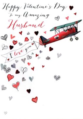 Husband Embellished Joie De Vivre Valentine's Greeting Card