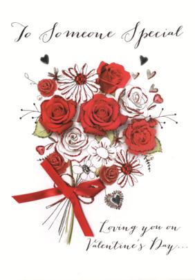 Someone Special Embellished Joie De Vivre Valentine's Greeting Card