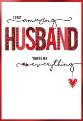 To My Amazing Husband Embellished Valentine's Day Greeting Card