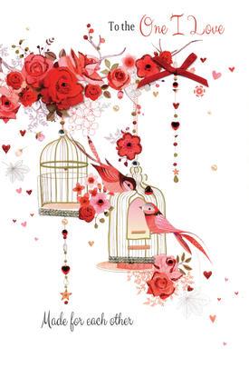 One I Love Embellished Magnifique Valentine's Greeting Card
