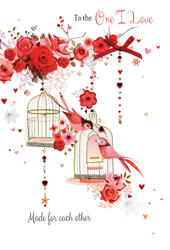 One I Love Embellished Magnifique Valentine's Greeting Card