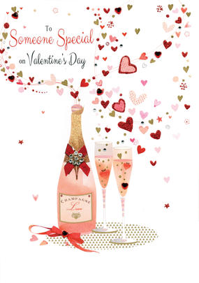 Someone Special Embellished Magnifique Valentine's Greeting Card