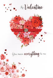My Valentine Embellished Magnifique Valentine's Greeting Card