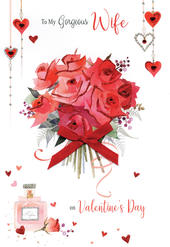 Gorgeous Wife Embellished Magnifique Valentine's Greeting Card