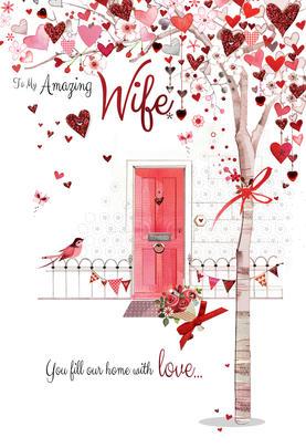 Amazing Wife Embellished Magnifique Valentine's Greeting Card