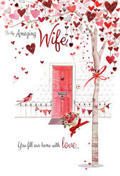 Amazing Wife Embellished Magnifique Valentine's Greeting Card