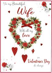 Boxed Beautiful Wife Embellished Valentine's Day Greeting Card