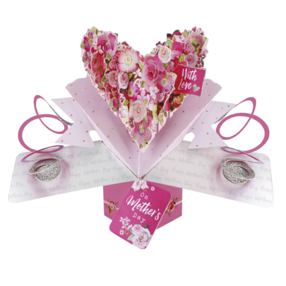 Mother's Day Floral Heart Pop-Up Greeting Card