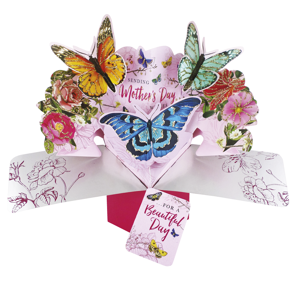 Mother's Day Butterflies Pop-Up Greeting Card