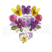 Mother's Day Pansies Pop-Up Greeting Card