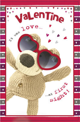 Boofle Valentine's Card It Was Love At First Sight Cute Greeting Card