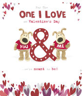 Boofle Valentine's Card For The One I Love Cute Greeting Card