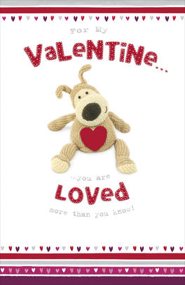 Boofle Valentine's Card For My Valentine You Are Loved Greeting Card