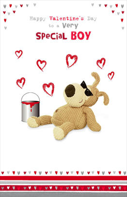 Boofle Valentine's Card For A Very Special Boy Cute Greeting Card