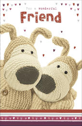 Boofle Valentine's Card For A Wonderful Friend Cute Greeting Card