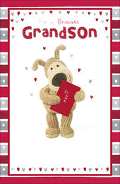 Boofle Valentine's Card For A Brilliant Grandson Cute Greeting Card
