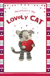 Boofle Valentine's Card From Your Lovely Cat Cute Greeting Card