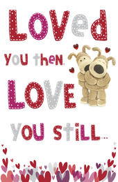 Boofle Valentine's Card Loved You Then Cute Greeting Card